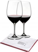 Riedel Vinum Cabernet-Merlot wijnglas met gratis poleerdoek (set van 2 glazen voor € 39,90)